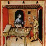 Le marchand de vin rouge au Moyen Age.